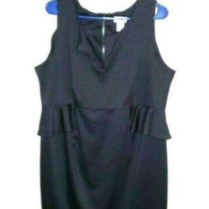 Motherhood Maternity Dress XL Black Ruffle Stretch